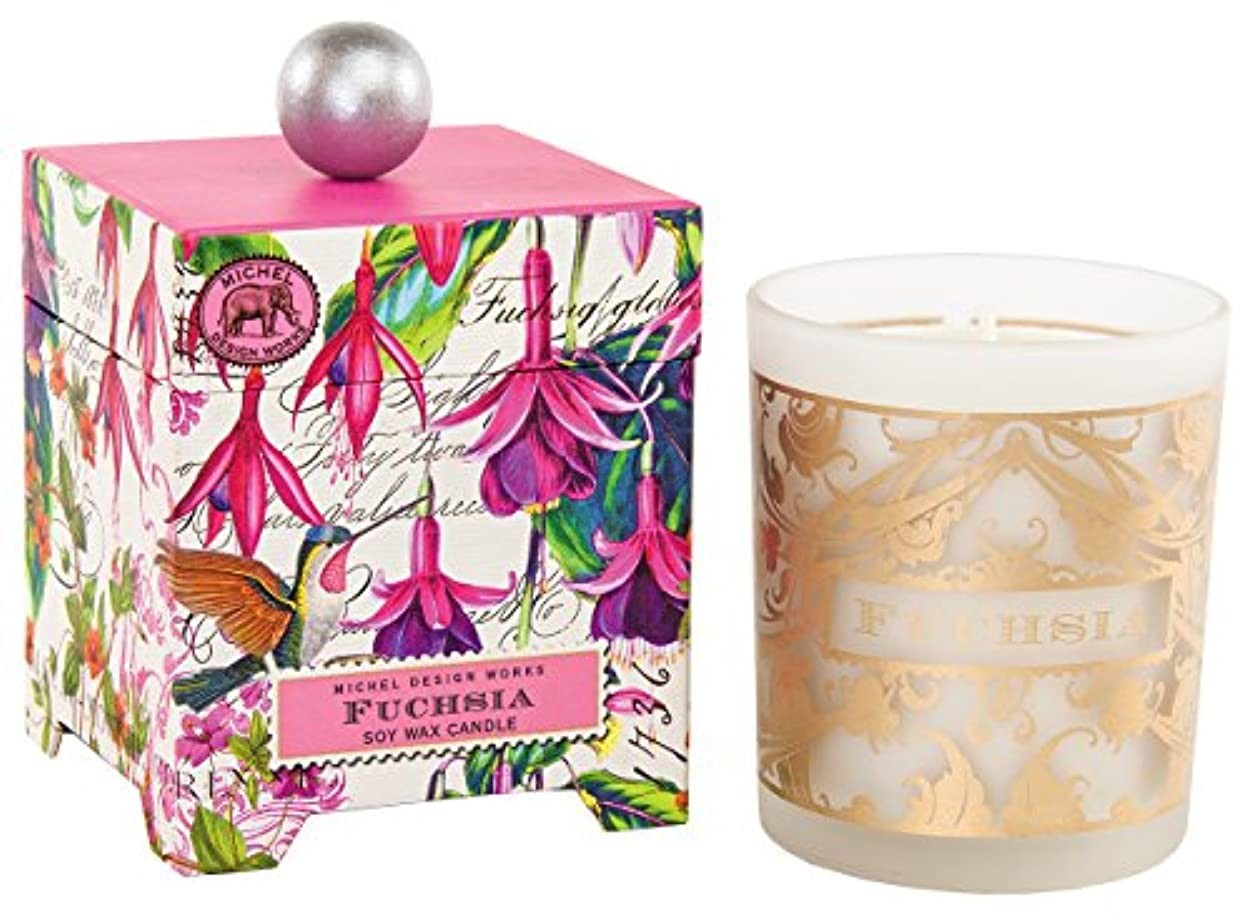 世界に死んだアトミック提出するミッシェルデザインワークス アロマキャンドル Lサイズ (フューシャ) 香り:エキゾティックフューシャ MDCAN246