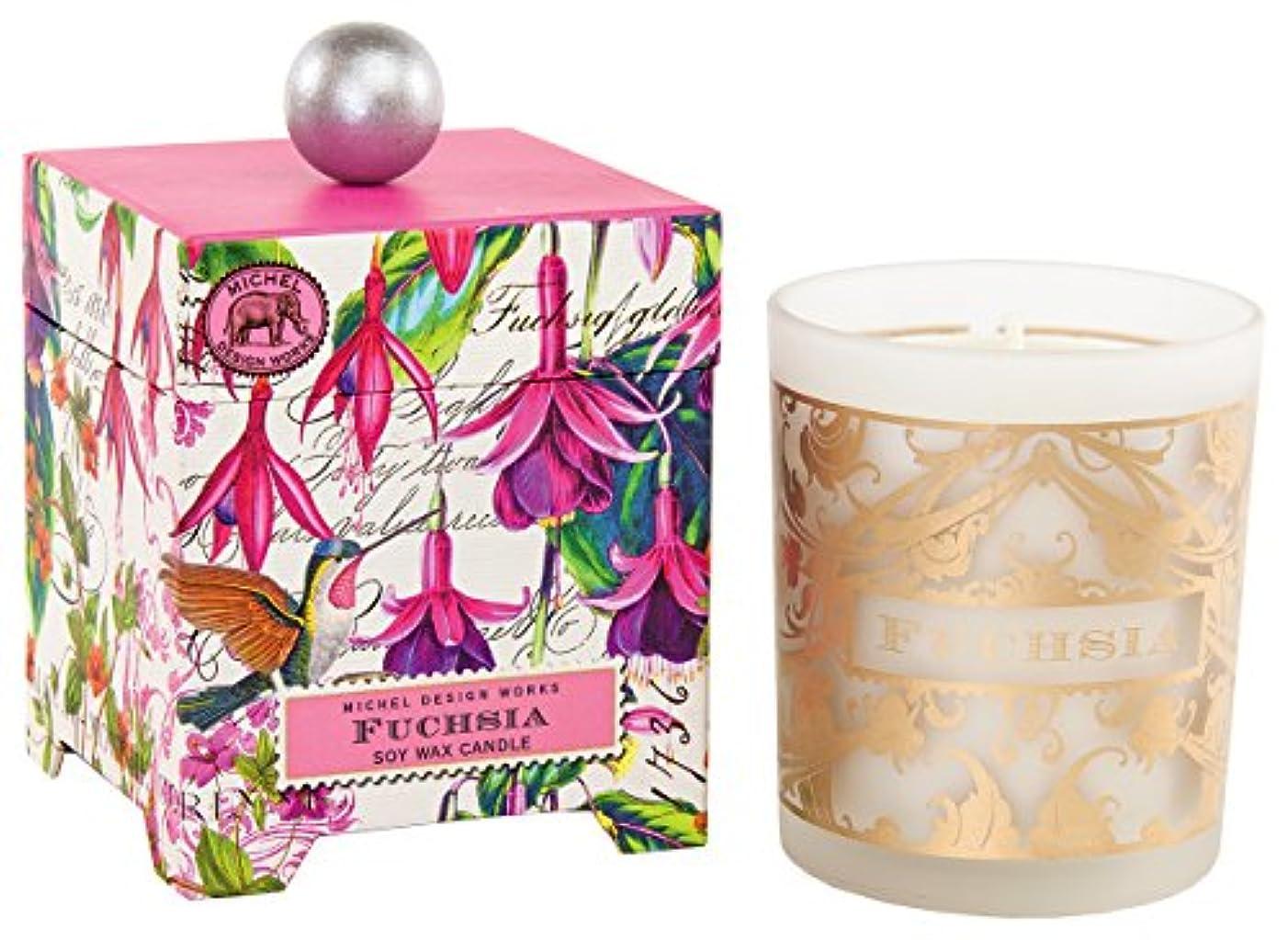 理容師エレガント標準ミッシェルデザインワークス アロマキャンドル Lサイズ (フューシャ) 香り:エキゾティックフューシャ MDCAN246