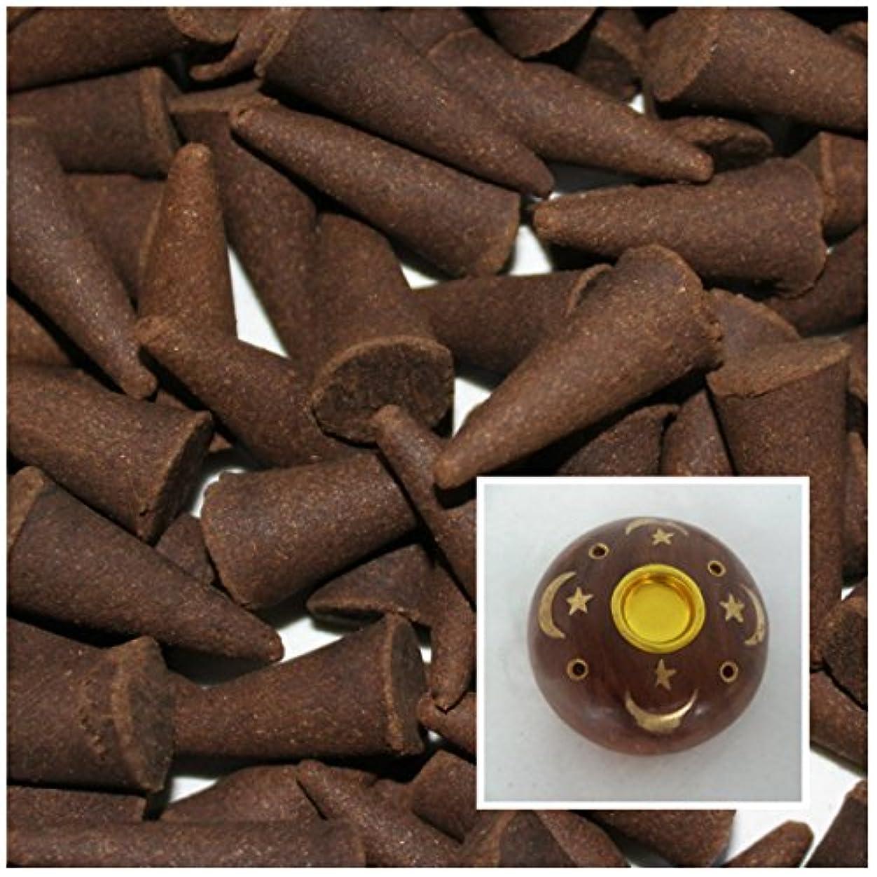 フラスコトレーニング滑りやすいIncense Cones 50 Bulk Pack Plus Holder: Frankincense and Myrrh by Rainbowrecords239