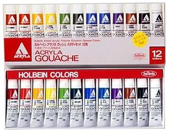 ホルベイン アクリラガッシュ スタディーセット 12色 D401 11ml(4号)
