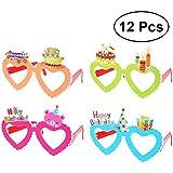 BESTOYARD Birthday Party Glasses Children's Novelty Eyeglasses for Birthday Gift Party Supplies 12 Pcs