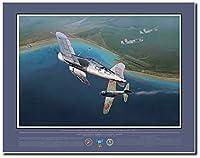 1st lt.ロバート・ハンソンover keraviaベイ、1月1944byジャックFellows–Corsair