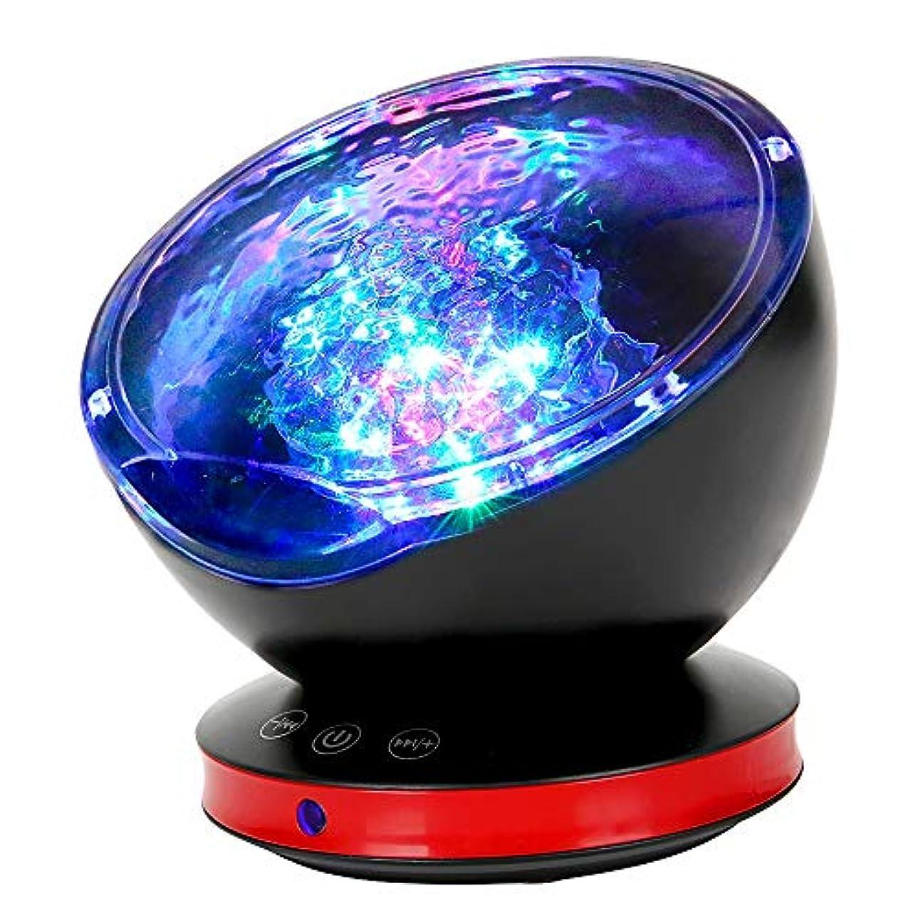 放送コンテンツ回るQCY 海洋プロジェクターライト 8種点灯モード 6種音内蔵 USB給電 輝度/角度調整可 スピーカー搭載 ブラック