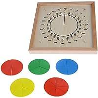 yuuups モンテッソーリ素材 木製 円形 分解 スコアボード 子供 教育玩具 工作 男の子 女の子 対象年齢 3 4 5歳以上 クリエイティブで楽しいキット 子供への最高のギフト