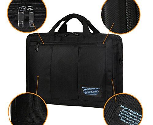 SNK 3WAY リュック PC バッグ ~15.6 インチ / A4 ビジネス 軽量 3WAY (手持ち・肩掛け・背負い) 小物収納ポケット充実 / 通勤・出張 対応 (ブラック)