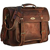 Handmade_world Leather Messenger Bag briefcases Men, Genuine Leather Laptop Bags Shoulder Crossbody Satchel Women