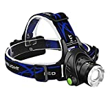 Bengoo ヘッドライト 充電式 登山 釣り アウトドア 防水 超高輝度LEDヘッドランプ CREE T6 led 軽量