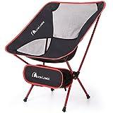 Moon Lence アウトドアチェア キャンプ椅子 コンパクト 超軽量 折りたたみ アルミ合金&オックスフォード 収納バッグ キャンプ アウトドア ハイキング 耐荷重110kg
