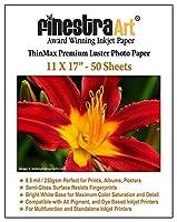 Finestraアート11x 17プレミアムLusterインクジェット写真用紙–50シート8.5Mil