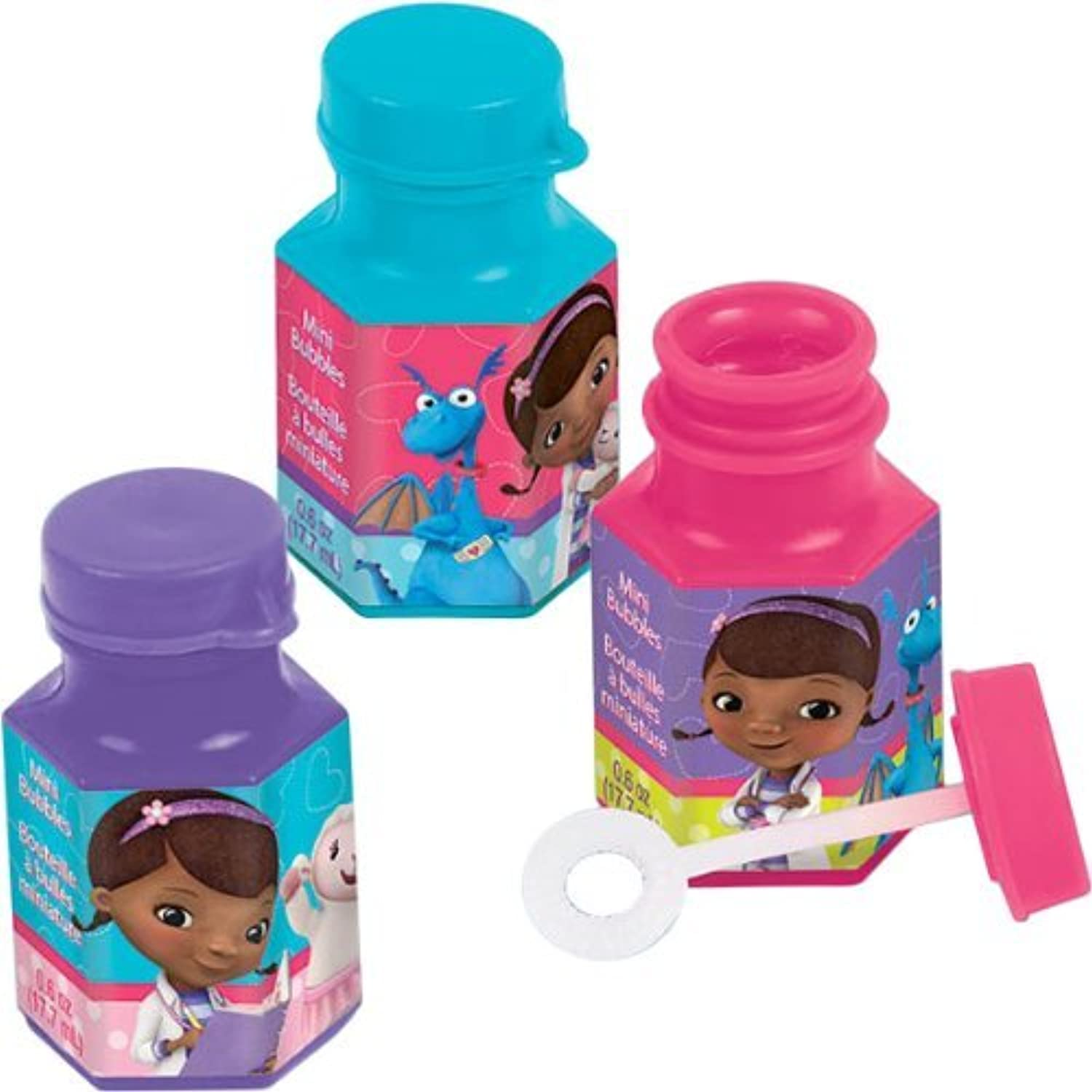 Doc McStuffins Mini Bubbles Birthday Party Toy Favours Pack (12 Pack) Multi Color 6 oz. [並行輸入品]