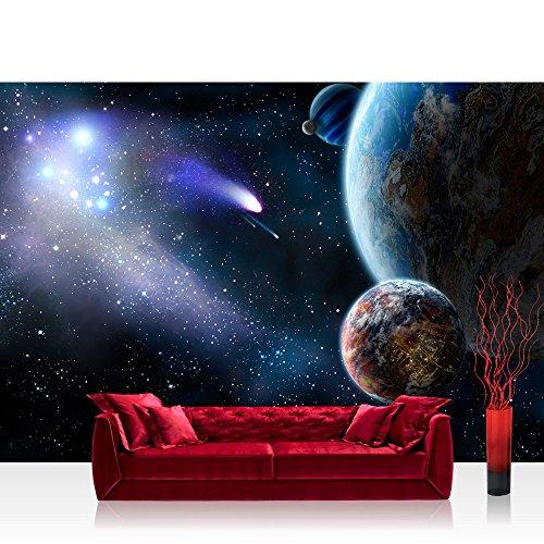 フォト壁紙???Earth Space Planet???No。232?Earth Space Planet Meteoritenブルー???壁装飾フォト壁壁ドアウォール紙ポスター& Prints Wallpaper 78.7 x 55.1 inches | 200x140 cm FTVLPP-0232-200X140