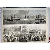 イギリスの艦隊の 1878 の Marmora のロシア帝国監視
