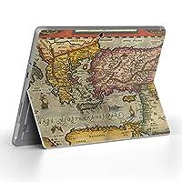 Surface go 専用スキンシール サーフェス go ノートブック ノートパソコン カバー ケース フィルム ステッカー アクセサリー 保護 写真・風景 地図 世界 006203