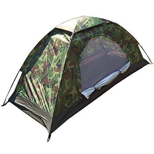 テント 一人用 コンパクト 迷彩柄 キャンプテント ソロテント 小型テント ...