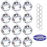 Crystalsuncatcher Clear Glass Crystal Ball Prism Feng Shui Lamp Hanging Drop Chandelier Pendants Suncatchers Pack of 12 pcs(20mm)