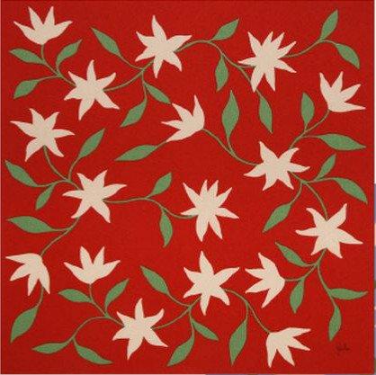 約68cmポリエステルちりめんふろしき二巾 シビラ Sybilla (ESTRELLA DE MAR(海の星)SRY01-A・赤)