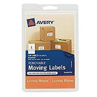 Averyリムーバブル移動ラベル、様々なサイズと色、パックの218(40219) PackageQuantity : 1スタイル:新しいモデル: 40219、オフィス、ショップ