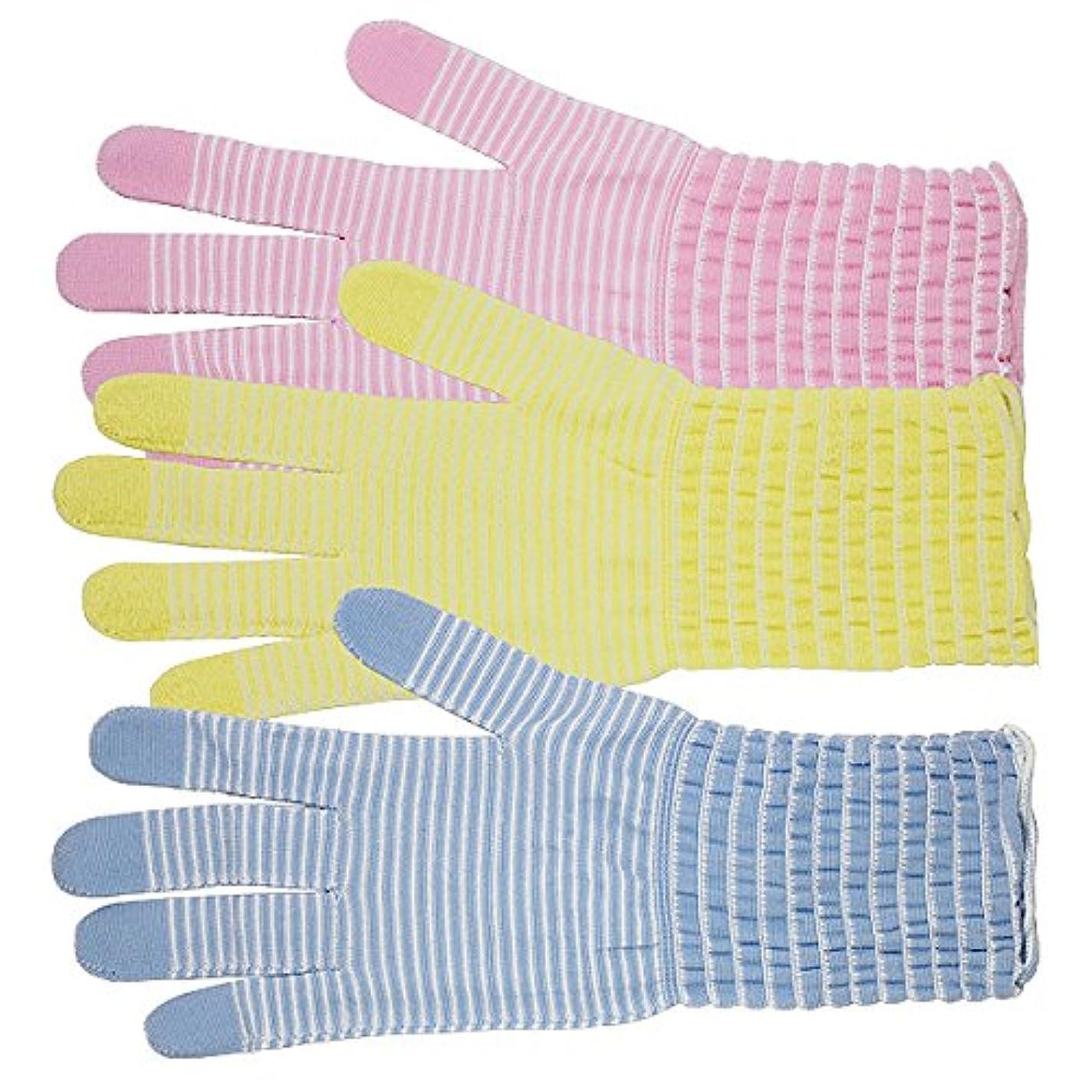 困った見える魅力的であることへのアピールコラーゲン手袋 モイストコート003 ソーダ