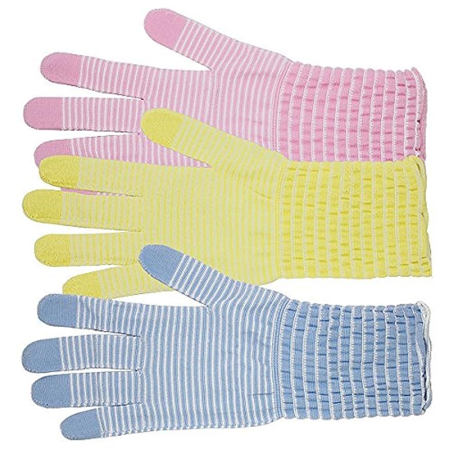 知覚支払い配置コラーゲン手袋 モイストコート003 ソーダ