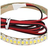 LEDテープライト (2本) 12V 高密度(240LED/m) 防水 1チップ 20cm (白ベース) 発光色:青色