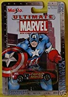 Ultimate Marvel 1:64 Scale Captain America Red Chevy Corvette Die Cast Car Maisto