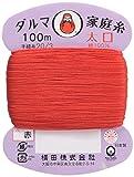 ダルマ 家庭糸 太口 手縫い糸 20番手 100m col.赤 01-0120