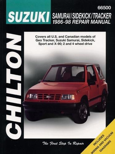 Download Chilton's Suzuki: Samurai/Sidekick/Tracker 1986-98 Repair Manual (Chilton's Total Car Care Repair Manual) 0801990882