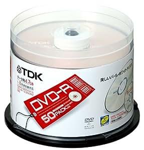 TDK DVD-Rデータ用 1-8倍速記録対応 50枚入り [DVD-R47ALX50PU]