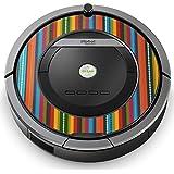 iRobot ルンバ Roomba 専用スキンシール ステッカー 870 871 875 876 880 885 対応 チェック?ボーダー ストライプ 模様 カラフル 007780