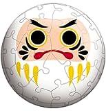 3D球体パズル 60ピース 開運だるま白 (直径約7.6cm)