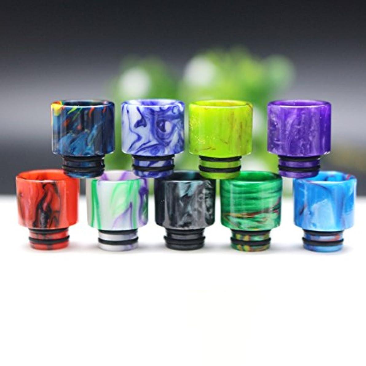 普通の永遠にスキャンダラスShioyaw Drip Tip 交換用樹脂510 ドリップチップ マウスピース 味重視 スピットバック防止 ニコチン0 ランダムな色