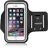 MoKo iPhone 6 スポーツアームバンド - iPhone 6 4.7インチ透明樹脂製スポーツアームバンド。BLACK (iPhone 6 Plus 5.5 インチに適応できない)