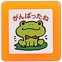 こどものかお スタンプ ティーチャー浸透印スタンプ(オレンジ)0616-014