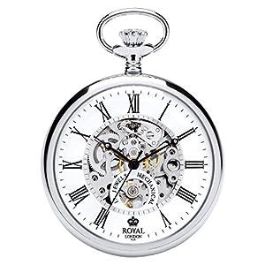 [ロイヤルロンドン]ROYAL LONDON 懐中時計 ポケットウォッチ オープンフェイス 手巻き 90049-01 【正規輸入品】