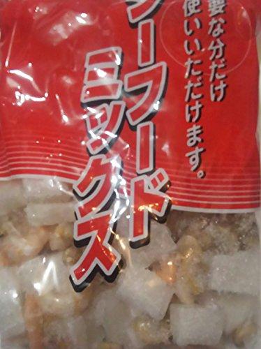 大人気 シーフードミックス(イカ、あさり、海老) 800g×10袋 業務用 冷凍
