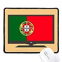 ポルトガルの国旗は、ヨーロッパの国 マウスパッド・ノンスリップゴムパッドのゲーム事務所