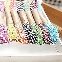 (デイリー スウィート)Daily Sweet 5巻 手芸用 天然 ひも 纸製 タグ用 彩色 10m*5 5色セット