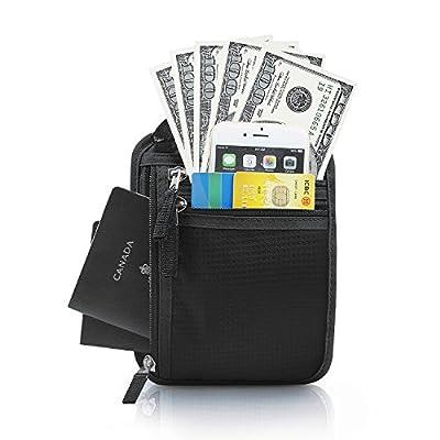 RFID-Blocking Anti-Theft Hidden Neck Pouch Security Zipper Travel Passport Holder Wallet for Men & Women - by LC Prime