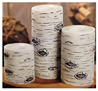 3 Flameless Led Wax Candles White Birch Enjoy Safe Candlelight Anywhere In Your Home by Tan Birch
