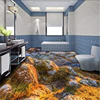 Wxmca カスタムHd石3Dリビングルームバスルームスクエアバーフロア壁紙壁画-400X280Cm