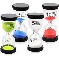 砂時計 セット カラフルな砂時計 インテリア タイマー 4個セット (1分/3分/5分/10分) ハミガキ 小テスト 将棋 かわいい きれい カラフル