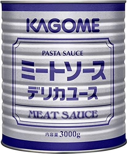 カゴメ ミートソースデリカユース 1号缶 3kg