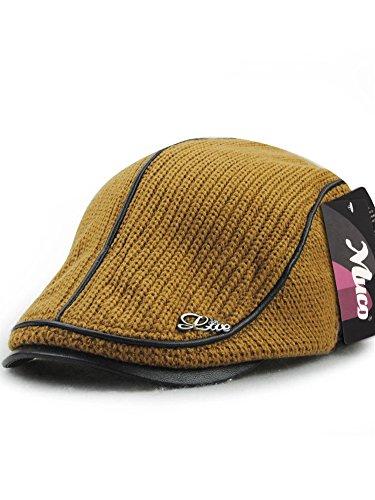 (ムコ) MUCO メンズ レディース キャスケット ハンチング帽 欧米 紳士 ニットハンチング オシャレ カジュアル 調節可能 アウトドア ゴルフ ギフト(6カラー) yellow ocher