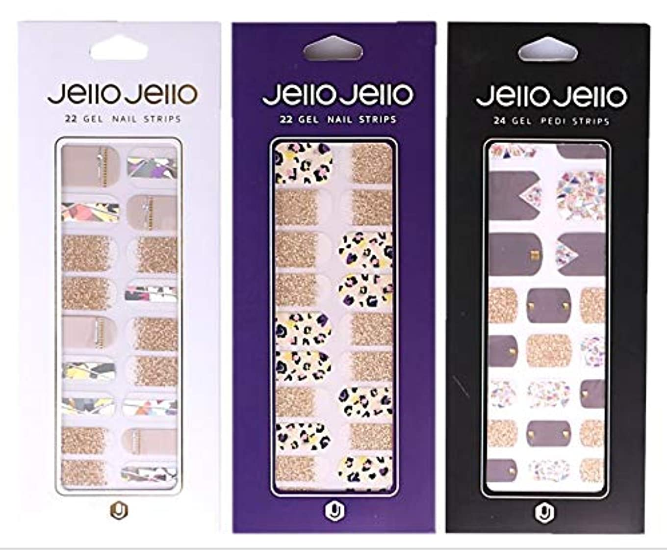 トライアスリート新年かみそり[NJELL PICK] Gold crush 2+1 set- Nail Wraps, Nail Patch, Nail Polish Strips, Nail Polish Stickers