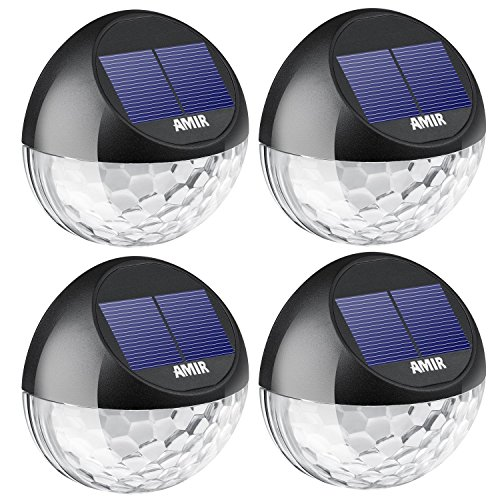 AMIR LEDソーラーライト 感光式 ガーデンライト 省エネ 外灯 壁掛けライト 防水 屋外照明用 4個/セット