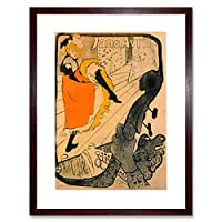 Lautrec Jane Avril Old Master Painting Picture Framed Wall Art Print アンリ・ド・トゥールーズロートレックオールドマスターペインティング画像壁