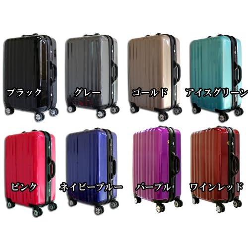(グラディス・トラベル)GladysTravel スーツケース キャリーバッグ ポリカーボネイト+ABS 電子はかり付き Sサイズ Wine