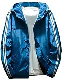 maweisong メンズプラスサイズのアウトドアスポーツウインドプルーフジャケット防水フードジャケット