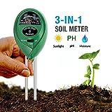 CHINFAI 3in1 土壌測定器 PH 光照 水分 測定メーター テスター 電池不要 農家 農業 栽培 園地 芝生 公園などに適用