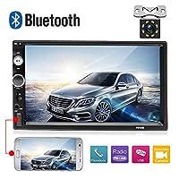 7010B カーステレオ Bluetooth AMprime 2 Din 7インチ タッチスクリーン FMラジオ MP5プレーヤー ミラーリンク iOS/Androidスマートフォン SD/USB/AUX入力+バックアップカメラ用